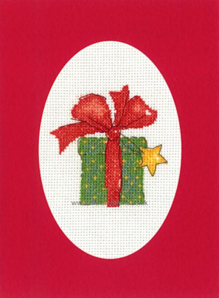 Sue Hill Christmas Gift Greeting Card Red Cross Stitch Kit